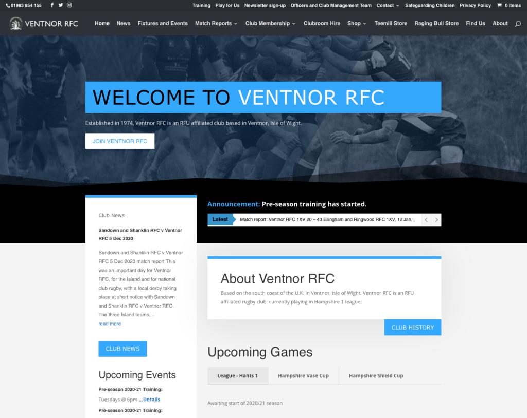 ventnor-rfc-cms-ecommerce-web-design